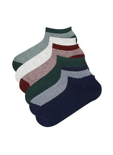 Penti Erkek Çok Renkli Erkek Strıp Çorap Seti PHV2T1UF21IY Renkli